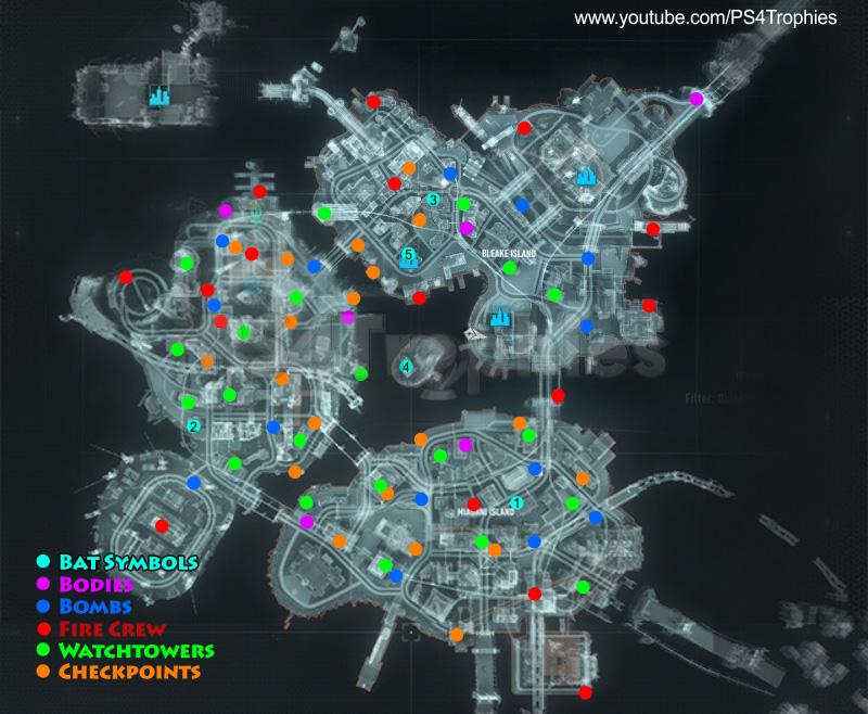 Road to Arkham Knight Batman Arkham City Batman Arkham Knight Map