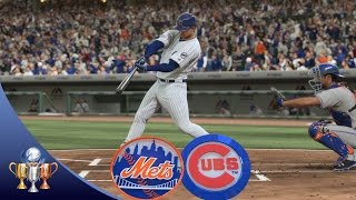 Mlb the show 16 mets vs cubs full game broadcast presentation