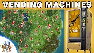 Fortnite Vending Machines New Battle Royale Content And Machine Locations PS4Trophies Gaming