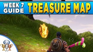 fortnite follow the treasure map found in dusty divot week 7 challenge location ps4trophies gaming - fortnite new dusty divot