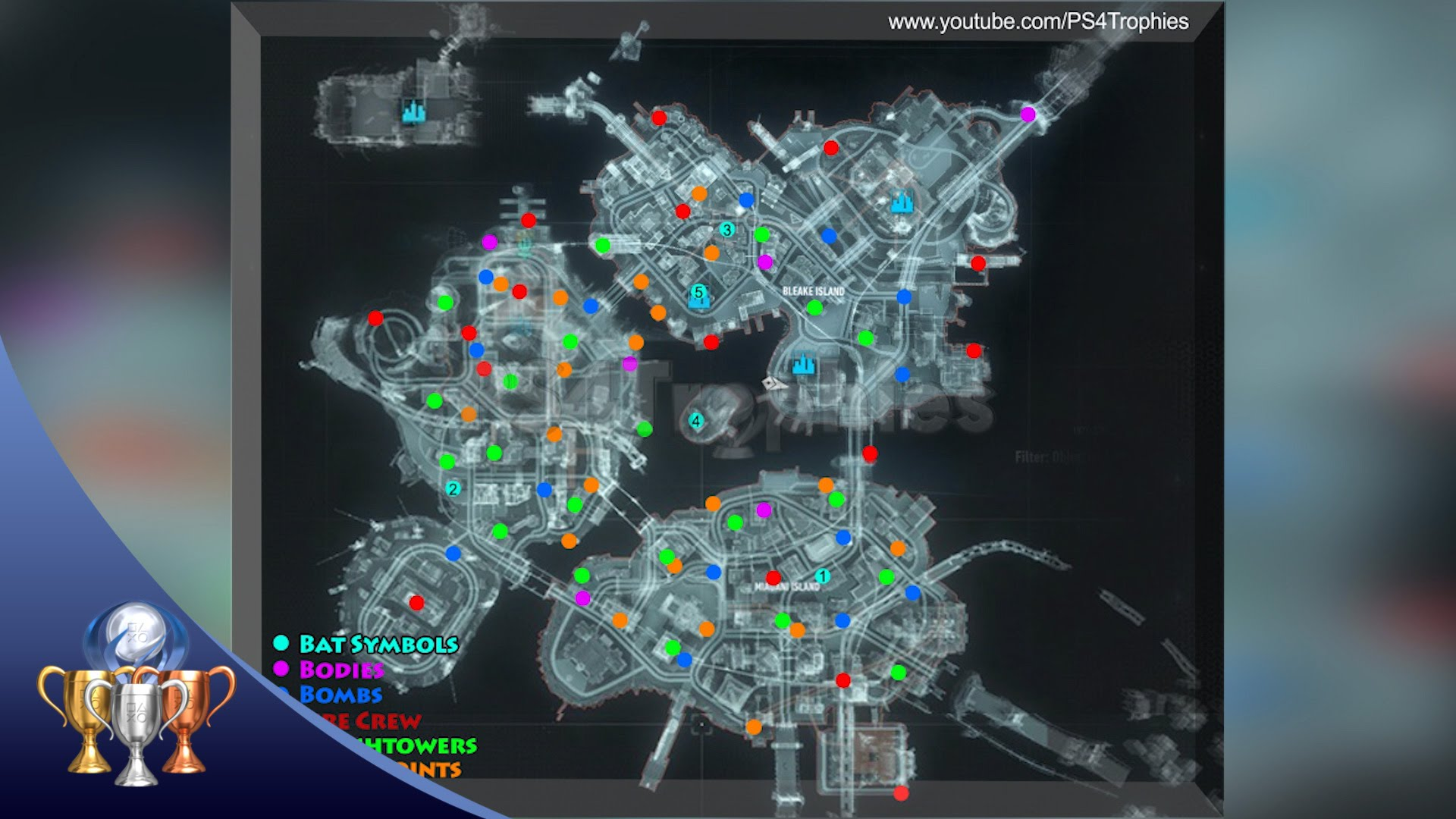 Batman Arkham Knight Map Batman Arkham Knight Map – Symbols, Mutilated Bodies, Bombs, Fire